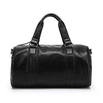 ZeleToile PU-50 Unisex PU Leather Handbag Travel Gym Weekender Holdall Hand  Luggage Sports Bag 46ebef910b88e