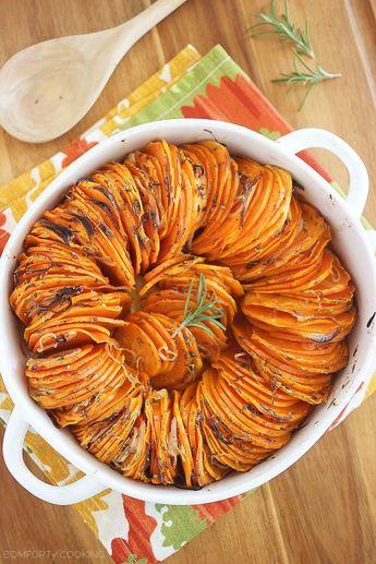Crispy Roasted Rosemary Sweet Potatoes