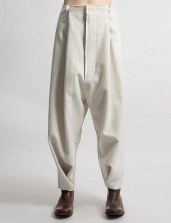 Futuristic Original Ofelya Ladies Woolen Trousers / Casual Drop Crotch Harem Pants - Big Carrot Pants Hanging Crotch Pants Collapse