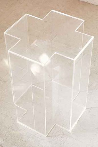 Acrylic Cross Side Table - Urban Outfitters