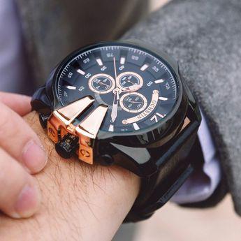 eef81930b OCHSTIN Sport Watch Men Luxury Brand Genuine Leather Military Chronograph  Men Wrist Watch Quartz Watch •