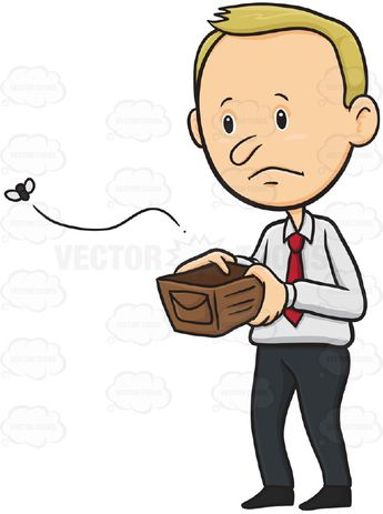 Image result for empty wallet with moths