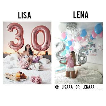 Lisa or Lena? #birthday #happybirthday #birthdayparty #party #30 #26 #ballons #lisaandlena #leli #lisa #lena #lisaorlena #musically