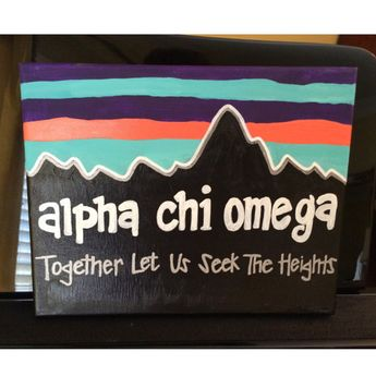 These hand made canvases are perfect gifts for girls in a sorority! Give them to your future sorority littles or to your bigs! Made to order