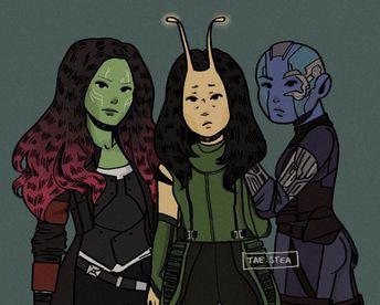 Gamora, Mantis & Nebula fanart