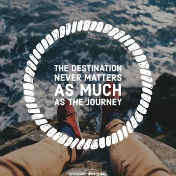 The destination is the ultimate result, what we learn on the journey is what is going to matter the most. Why would the destination matter at all? Well, take it as a source of motivation, maybe?  .  .  .  . #motivation #quote #quotes #quoteoftheday #selfimprovement #thought #teamself #selfhelp #wisdom #creativity #great #follow #motivationalquote #education #instadaily #mindset #inspiration #selfcare #life #motivateyourself #word #cool #amazing #discipline