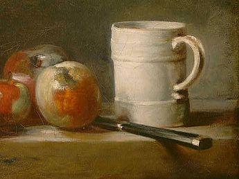 Jean Baptiste Simeon Chardin - Still Life with White Mug (detail) - 1762