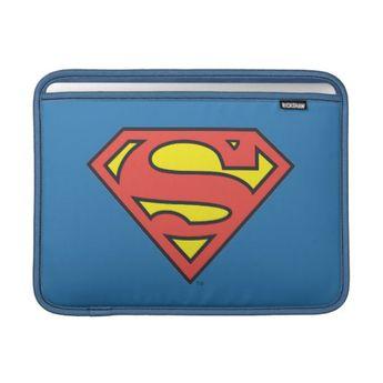 Superman S-Shield | Superman Logo Sleeve For MacBook Air | Zazzle.com