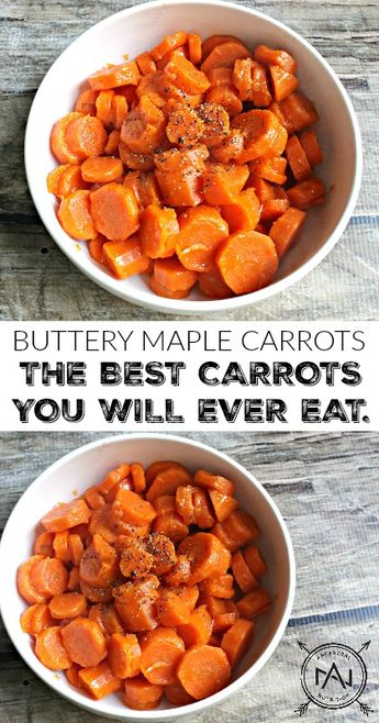 Buttery Maple Carrots