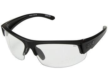 90a6fb98f6d Spy Optic Sprinter (Matte Black Ansi RX Clear) Athletic Performance Sport  Sunglasses.