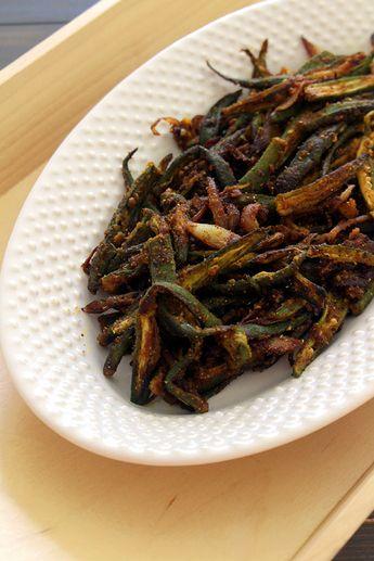 Bhindi fry recipe (Crispy bhindi sabzi)