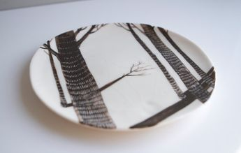 Birch Wood (Porcelain Plate) by Farrah Sit and Bryce Wymer