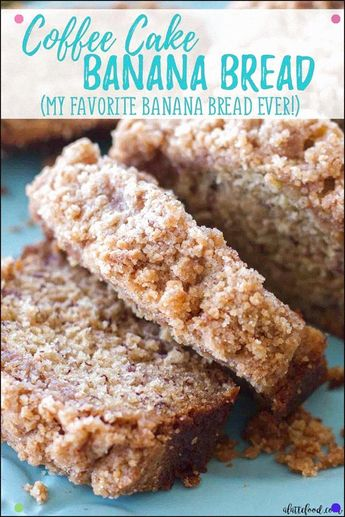 This Coffee Cake Banana Bread Is A Combination Of A Classic Banana Bread Recipe Mixed With A Homemade Coffee Cake Recipe It's Like A Quick Bread Meets Coffee Cake, And It Makes For The Best Breakfast, Brunch, Or Dessert Recipe