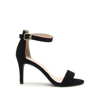d0e612feb381be Express Womens Zip Back Heeled Sandal Black