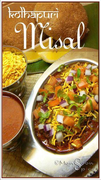Kolhapuri Usal/Misal Recipe with Kat and Kolhapuri Masala