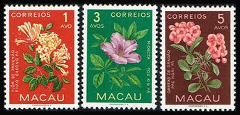 Macau 372-374 Stamps Flower Stamps AS MAC 372to374-1
