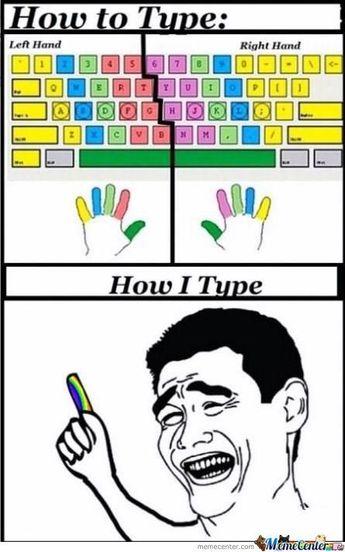 How I Type Using Keyboard