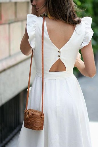 Love in Paris Tie Midi Dress