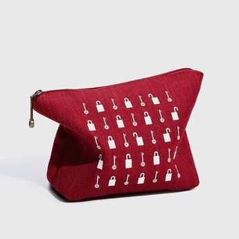 Make Up Bag Cosmetic Bag Bridesmaid Pouch Toiletry Bag Valentine's Gift Canvas Bag Canvas Makeup Bag