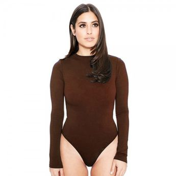 Womens Brown Bodysuit