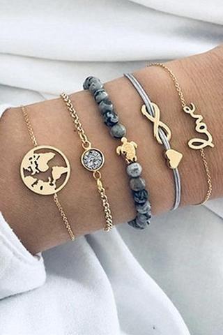 Never going home bracelet set