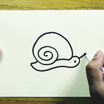 This is a easy to learn draw a snail . So draw and have fun.