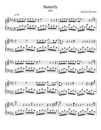 Utada Hikaru First Love Advanced Piano Solo Sheet Music