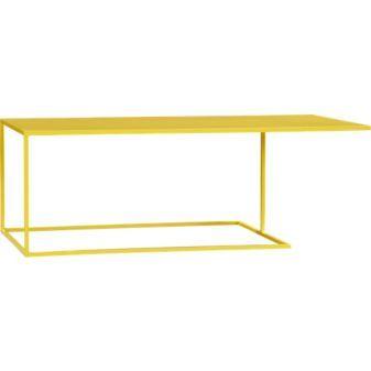 yellow coffee table - cb2