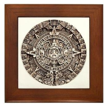 Mayan End of the World 2012 Calendar Framed Tile by MassAppeals