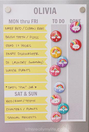 FREE Printable Chore Chart (Customizable Too!)