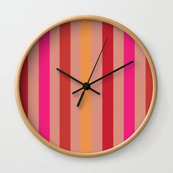 Summer Stripes Wall Clock by Poppytalk.