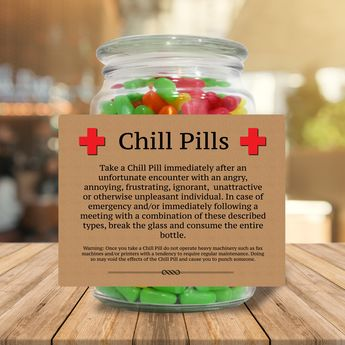 Chill Pills for Professionals (PNG File) Funniest Office Co Worker Gifts