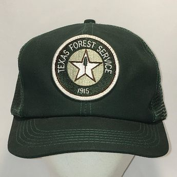 ebf583bc65156 Vintage Trucker Hat Texas Forest Service Caps Mesh Short Brim Snapback Hats  For Men Green Dad