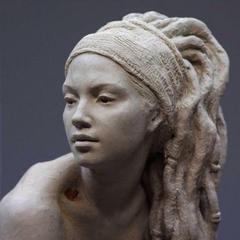 """""""Walking in Beauty"""", work in progress (2018), clay 46 cms. @coderch.malavia.sculptors . . . . . . . #sculpture #art #arte #artgallery…"""