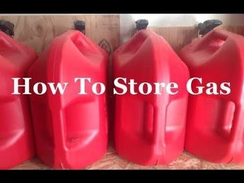 Survival Skills 101: How To Store Gas. - SurvivalKit.com SurvivalKit.com #survivalwatch #survivalskillsoutdoor