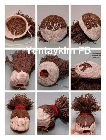 Juliet Crochet DOLL pattern with crochet BEAR, amigurumi pattern ... | 455x344