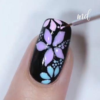 ADORABLE NAIL ART IDEAS #nailideas #nailart #floralnails