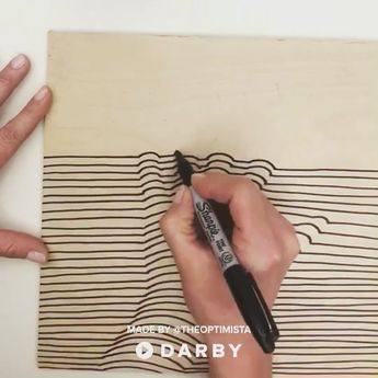 Super easy way to make a cool DIY 3D artwork for your place/ Крутой способ сделать объёмный рисунок