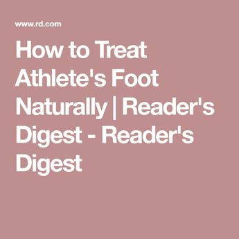 8 Natural Home Remedies for Athlete's Foot
