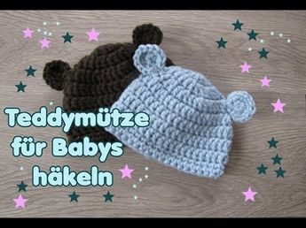 Diy Anleitung Babymütze Mit Häschenohren Häkeln Via Dawand