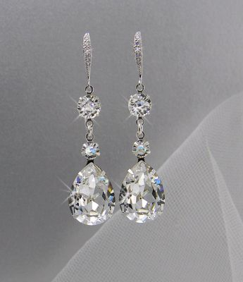Crystal Bridal Earrings Wedding Jewelry