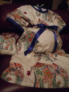 Maternity Hospital Gown Made From Free Pattern By Wwwlazy
