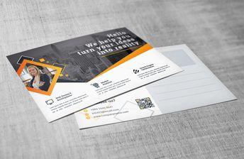 Attorney Corporate Postcard Template - Graphic Templates