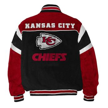 1118851f3f6 GIII NFL Kansas City Chiefs Suede Leather Football Jacket Officially  Licensed XL