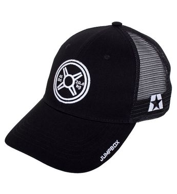 18d5aa9cd8861 Heavy Metal Weightlifting Plate Gym Workout Black Curved Bill Snapback  Trucker Hat CP186I5ZEQK