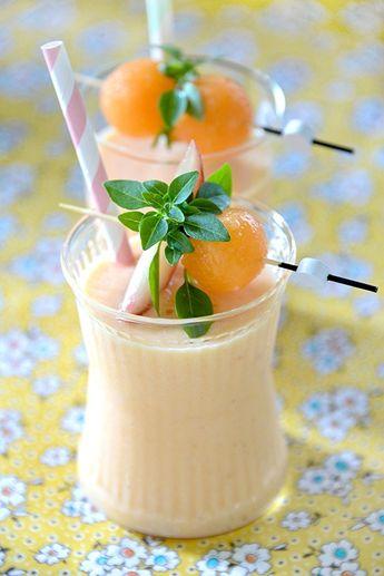 Smoothie Melon pêche et vanille - B comme Bon