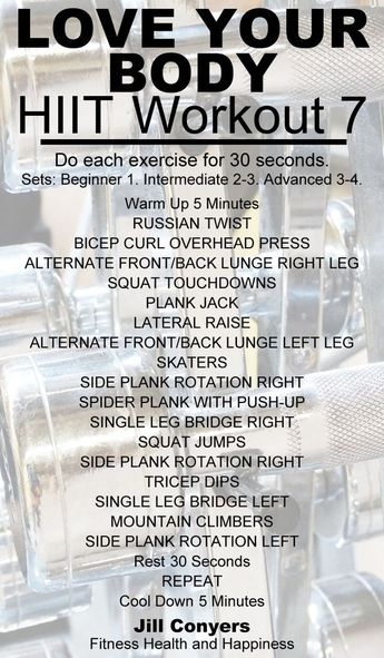 Love Your Body HIIT Workout 7 (Jill Conyers