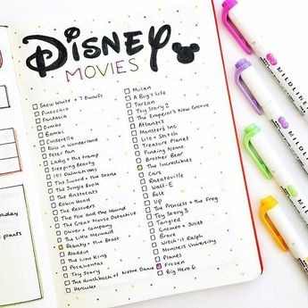 #Disney lovers check this #disneymovie watch list from Have you seen all of them? #Repost @thedoodleplanner ・・・ I have a feeling you guys are going to love this one, because I do!! ❤️❤️ I decided that I want to watch all of the nostalgic Disney movies again the other week, and so I've created a spread to track my progress! The ones coloured in are the ones I've watched already! Comment and tell me what's your all-time favourite Disney movie, and tag a friend to watch it with you!
