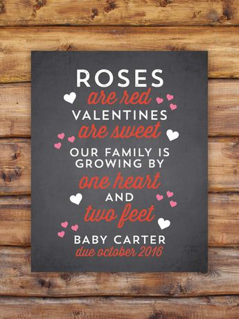 Valentine S Day Pregnancy Announcement Valentine S Day P