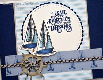"""Stampin' Up! Sailing Home for the Happy Inkin"""" Thursday Blog Hop - Stamping With Kristi"""